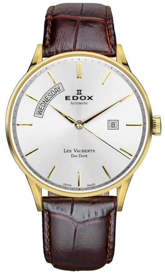 Edox Fine Mechanical Watches - 83010 37J AID Mens Les Vauberts